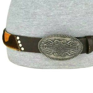 Sandy Duftler Brown Western Cowhide Cowboy Belt